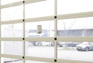 portone residenziale sezionale vetro