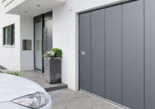 portone residenziale sezionale grigio